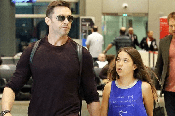 Hugh Jackman with his daughter Ava Eliot