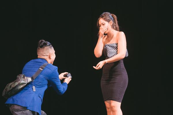 Tiomthy DeLaGhetto proposing his fiance Chia Habte