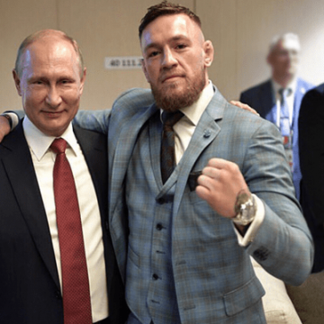 Conor McGregor and Vladimir Putin Friends?? Conor Invited in World Cup Final by Putin