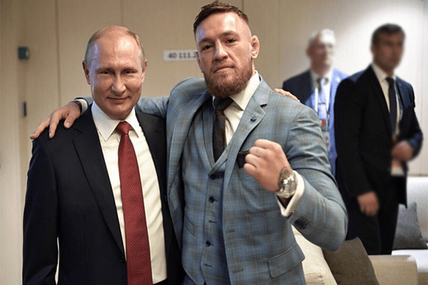 Conor McGregeor with Vladimir Putin