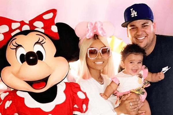 Rob Kardashian with his ex-fiance Blac Chyna and daughter Dream Kardashian