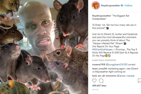 Feud between 50 Cent and Floyd Mayweather
