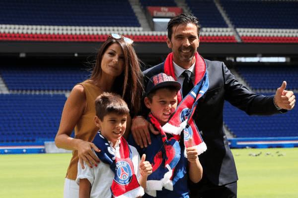 Gigi Buffon and his family