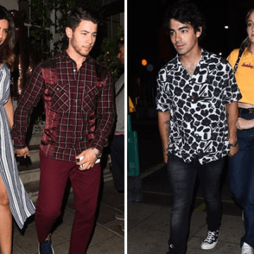 Nick Jonas and Joe Double Date With Priyanka Chopra And Sophie Turner | Joined By Brother Kevin