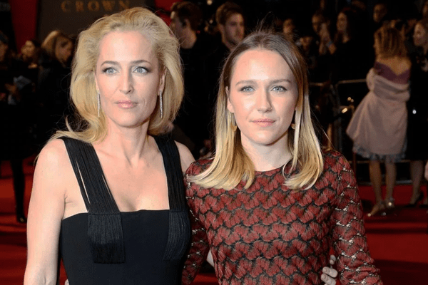 Piper Maru Klotz and Gillian Anderson