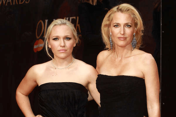 Piper Maru Klotz and her look alike daughter Gillian Anderson