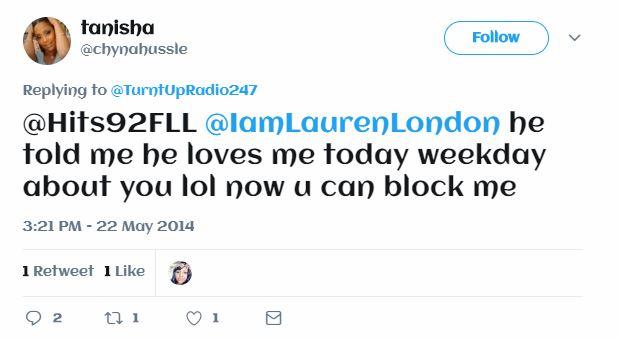 Tanisha Asghedom disses Lauren london