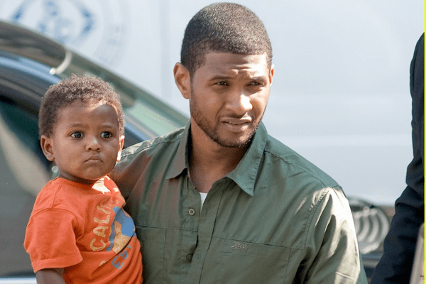 Usher with his son Naviyd