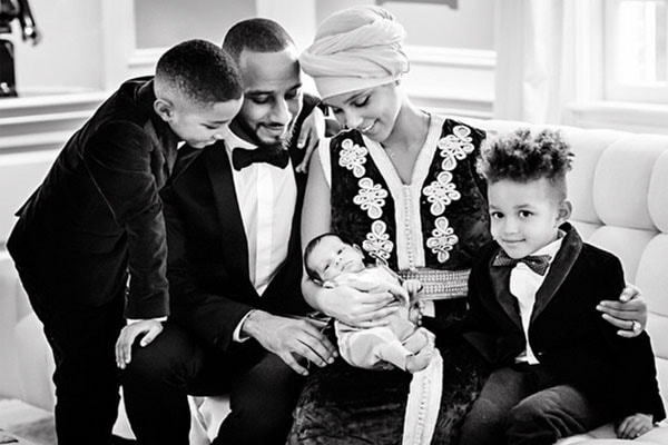 Alicia Keys' son Egypt Daoud Dean and his brother Genesis ALi Dean.