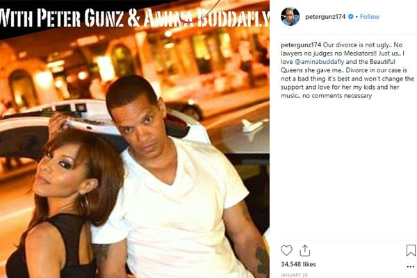 Divorce betweenpeter Gunz and Amina Buddafly
