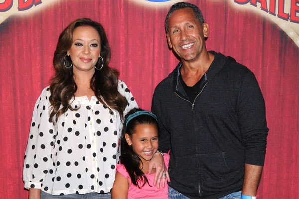 Angelo Pagan with his daughter Sofia Bella Pagan and Wife Leah Remini