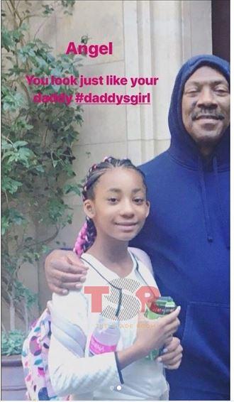 Eddie Murphy with his daughter Angel Iris Murphy Brown.