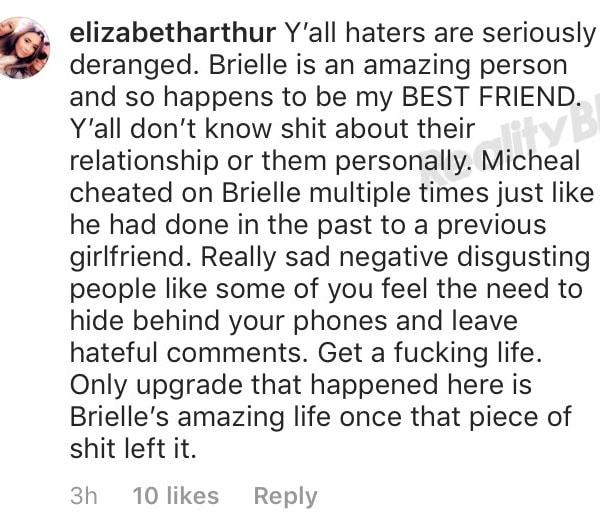 Elizabeth Arthur defends Brielle Biermann