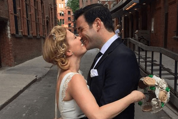 Patti Murin and husband Colin Donnell during their wedding