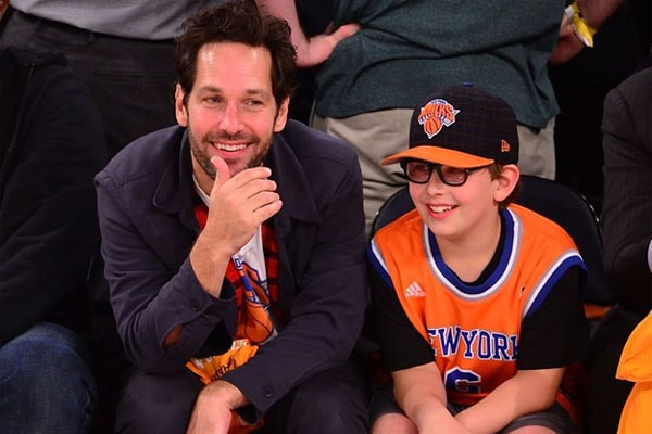 Jack Sullivan Rudd with his father Paul Rudd.