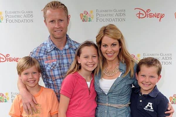 Candace Cameron Bure with husband and kids