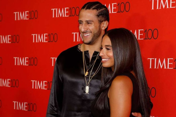 Colin Kaepernick and his girlfriend