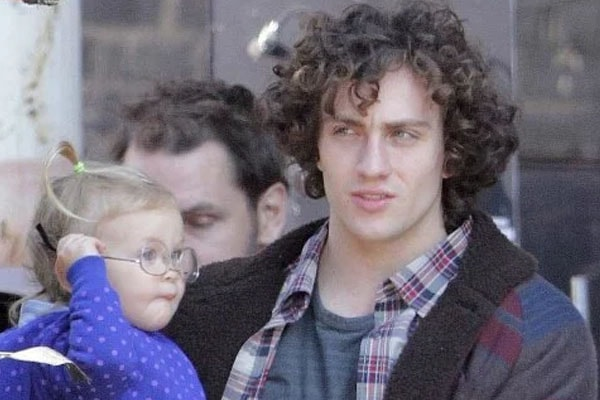 Wylda Rae Johnson, daughter of Sam Taylor-Johnson with her father.