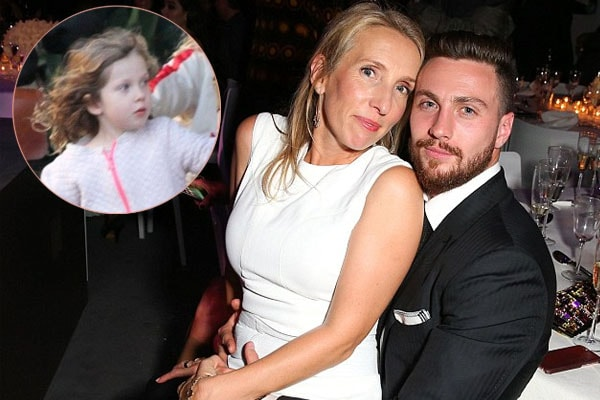 SamTaylor-Johnson and Aaron with their daughter Romy Hero Johnson
