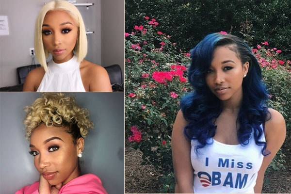 Zonnique Pullins,Daughter of Tameka Cottle loves experimenting on her hair