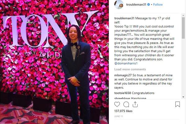 Rapper T.I. on his son, Domani Harris on Instagram
