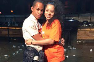 Ella Mai along with her boyfriend