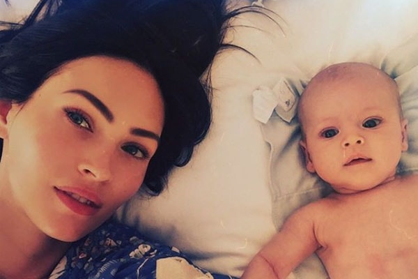Megan Fox with her son Journey River Green.