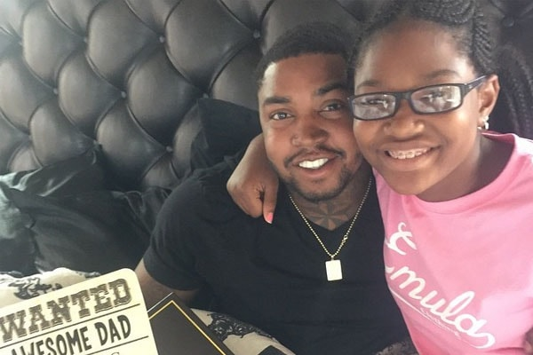 Lil Scrappy and his daughter Emani.