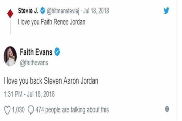 Stevie J and Faith Evans marriage