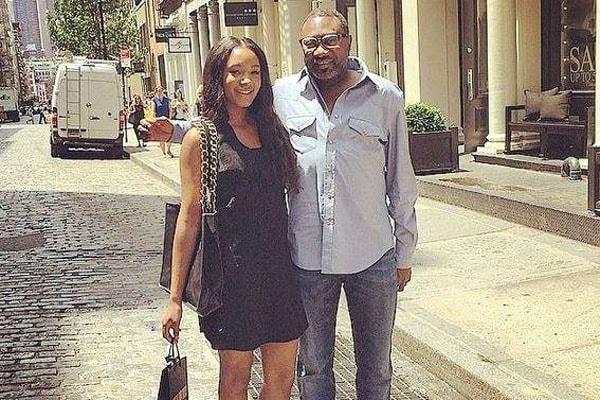 Mr Eazi's girlfriend Temi with her father