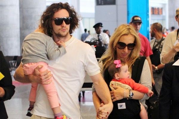 Sam Taylor-Johnson with her family including daughters and husband