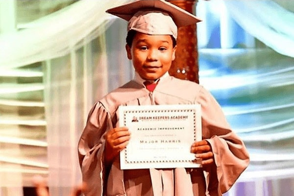 Son of T.I. and Tiny Harris Major Philant Harris during his elementary school graduation