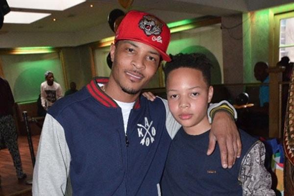 T.I. alongside his son Domani Harris
