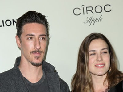 Eric Balfour and his wife.