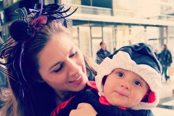 Erin Burnett and her son Nyle Thomas Burnett Rubulotta