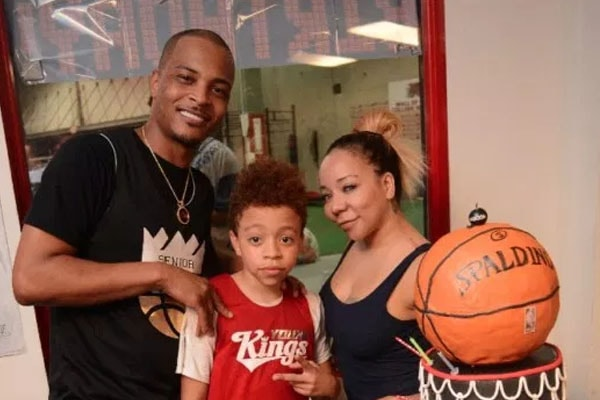 King Harris with parents, T.I and Tiny.