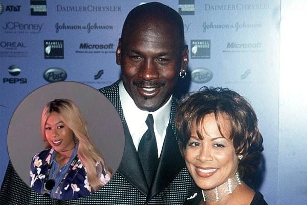 Michael Jordan with daughter Jasmine and ex-wife Juanita