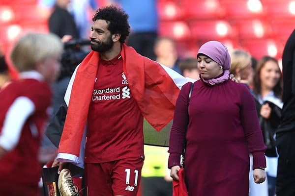 Mohamed Salah and his wife