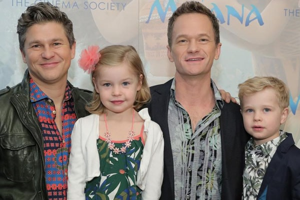 Neil Patrick Harris with his lovely daughter Harper Grace Burtka-Harris and family