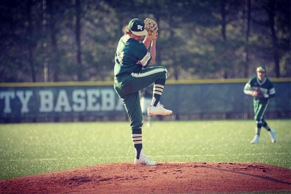 Peyton Glavine playing baseball