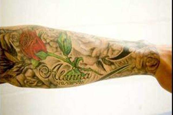 Randy Orton's tattoo for daughter, Alanna.