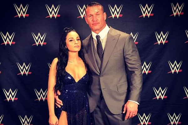 Randy Orton and his wife Kim Marie Kessler