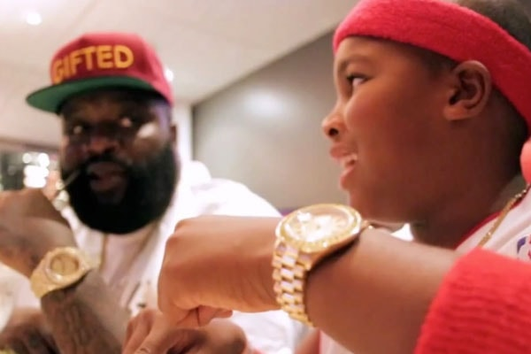 Rick Ross with his Son William Roberts III