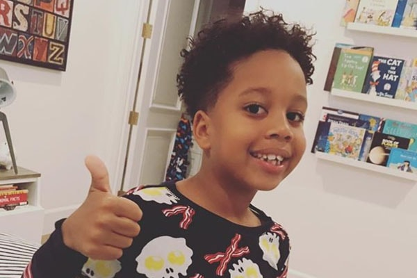 Son of Tia Mowry Cree Taylor with his haircut