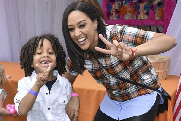 Cree Taylor Hardrict with his mother Tia Mowry