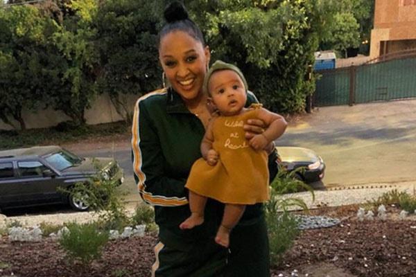 Tia Mowry and her daughter Cairo Tiahna Hardrict