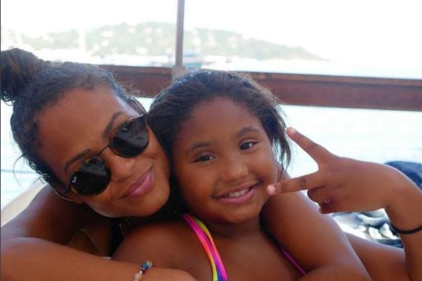 Christina Milian alongside her daughter Violet Madison Nash