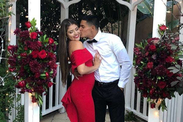 Aalyah Gutierrez with her boyfriend, AJ Hernandez