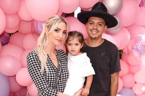 Ashlee Simpson with daughter Jagger Snow Ross and husband Evan Ross