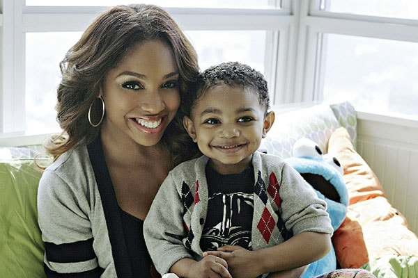 Brooke Valentine with son London